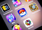 La Habra, United States - July 12, 2016: Macro closeup image of pokemon go game app icon among other icons on an iphone smartphone device. Pokemon Go is a popular virtual reality game for mobile devices.