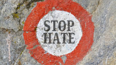 Text message as appeal to combat hatred and intolerance between people